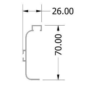 CAPRI-C-LED Profile (Order Via Chat)